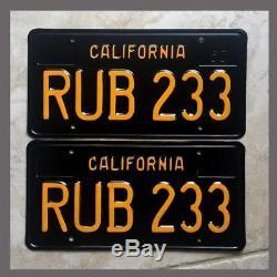 1963 California YOM License Plates Pair Restored DMV Clear