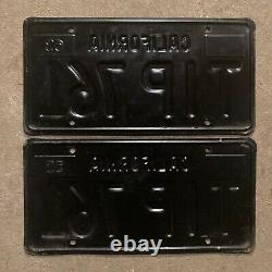 1963 California license plate pair TIP 761 YOM DMV clear sticker Ford Chevy 1967