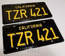 1963 VINTAGE ORIGINAL California License Plates 1965 Sedan Coupe 1964 1966 1967