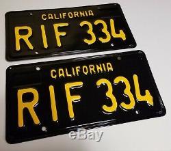 1963 VINTAGE ORIGINAL California License Plates 1965 Sedan Coupe 1968 1969 1964