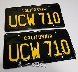 1963 VINTAGE ORIGINAL California License Plates 1967 Sedan Coupe 1968 1969 1964