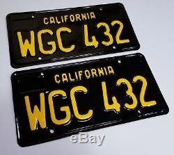 1963 VINTAGE ORIGINAL California License Plates 1968 Coupe Sedan 1967 1969 1966
