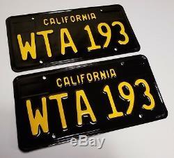 1963 VINTAGE ORIGINAL California License Plates 1968 Sedan Coupe 1967 1969 1965