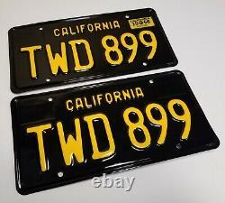1966 Vintage Original CALIFORNIA LICENSE PLATES Coupe Sedan DMV CLEAR