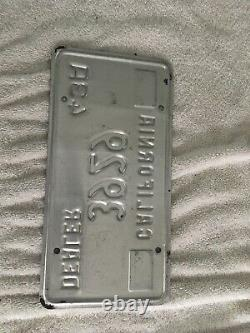 1969 2001 California DEALER License Plate nice used 3929 43a
