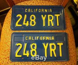 1970 California BLUE License Plates tags 1980 1971 1972 1973 1974 Sedan Coupe
