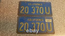 1970 California Commercial License Plates, 1974 Validation, DMV Clear, G