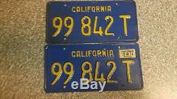 1970 California Commercial License Plates, 1974 Validation, DMV Clear, VG