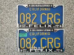 1970 California License Plates, 1971 Validation, DMV Clear Guaranteed
