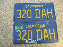1970 California License Plates, 1971 Validation, DMV Clear Guaranteed, VG