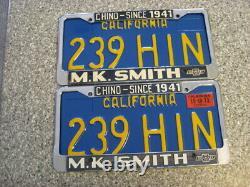 1970 California License Plates, 1973 Validation, DMV Clear Guaranteed, NM