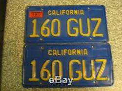 1970 California License Plates, 1973 Validation, DMV Clear Guaranteed, VG