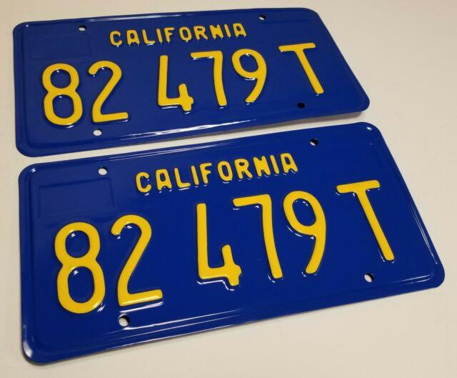 1970 California Truck / Commercial License Plates 1971 1972 1973 1974 1975 1976