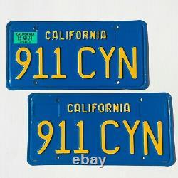 1970's California Blue License Plates 1971 Porsche 911