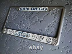 1970's VW Volkswagen Dealer Mission Bay San Diego California License Plate Frame