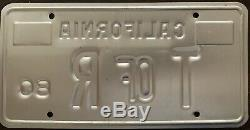1970s Ultra Rare! CALIFORNIA Tournament of Roses T of R License Plate