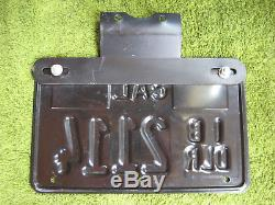 1975 California Dealer Motorcycle License Plate Tag with Original Registration