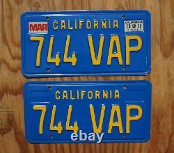 1979 California License Plate PAIR / SET HIGH QUALITY ORIGINAL