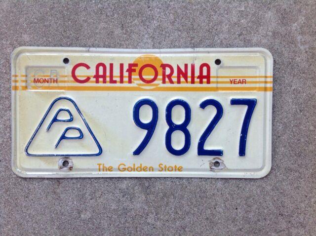 1980's California Press Photographer License Plate