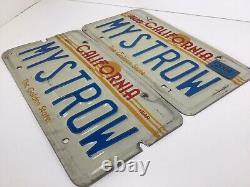 1980s CALIFORNIA MYSTROW Golden State Sunset Personalized Plate Set Survivors