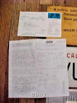1992 1993 Pair Of California License Plate NOS With Tags Envelope 2 Registration