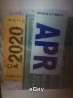 2020 California DMV CA YELLOW Registration Sticker