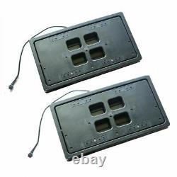 2PCS USA Standard Electric License Plate Frame Remote Control Flip Hidden Design