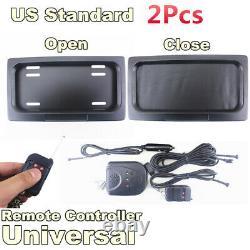 2Pcs Shutter Electric Swap Shift Turn Blinds License Plate Frame USA Standard