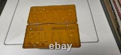 (2) MATCHING PAIR 1956 CALIFORNIA LICENSE PLATES WITH 1962 sticker