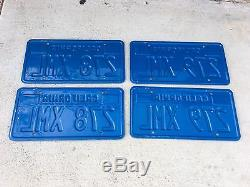 (2) Pair blue/yellow California license plate plates DMV clear for YOM use