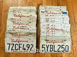 50 California License Plates Craft/Road Kill Condition