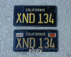 63 California License Plates Black & Yellow Front & Rear Xnd 134