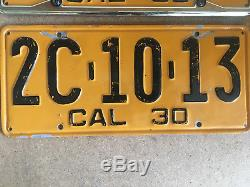 AWESOME California 1930 License Plate Plates