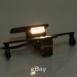 Adjustable Aluminum LED Motorcycle License Plate Mount Tail Light Bracket Frame