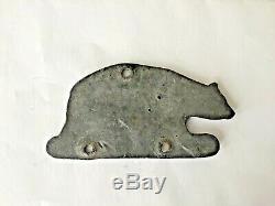 Antique 1916 CALIFORNIA LICENSE PLATE BEAR TAG