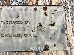 Antique 1919 California Porcelain License Plate California Metal Enameling Co