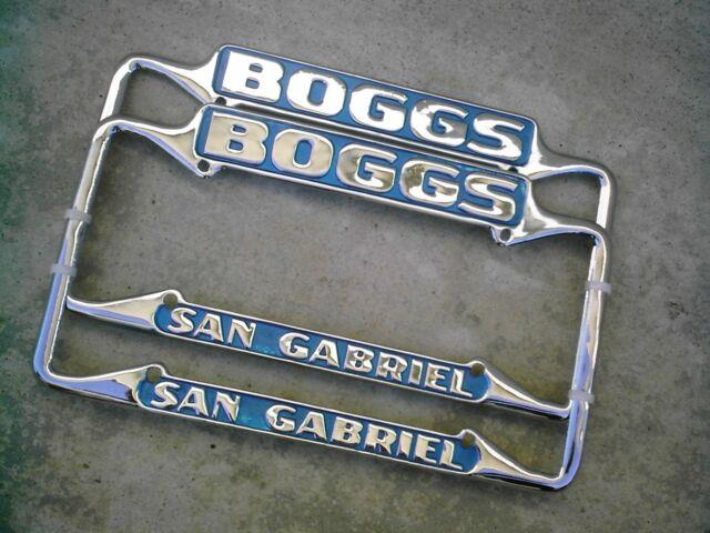 Awesome Calif Boggs Chevy License Plate Frames. San Gabriel