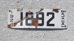 Baja California 1924 Porcelain License Plate Nr