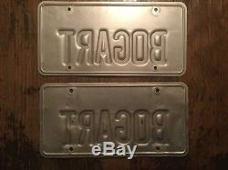 BOGART California State Personalized License Plate- REAL ISSUE SUPER RARE- WOW