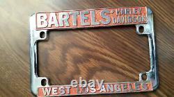 Bartels' WEST LOS ANGELES California Harley License Plate Frame orange
