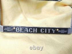 Beach City Chevrolet Long Beach California License Plate Metal FRAME