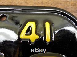 Beautiful Restored Pair 1941 42 43 44 California License Plates 69 Z 208 DMV Ok