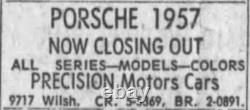 BeverlyHills California Precision Porsche Volkswagen Vintage License Plate Frame