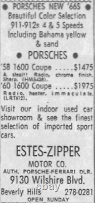 Beverly Hills California EstesZipper Ferrari Porsche Vintage License Plate Frame