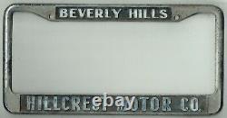 Beverly Hills California Hillcrest Motors Cadillac Vintage License Plate Frame