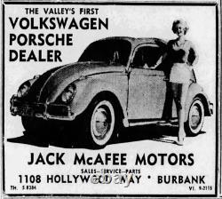 Burbank California Jack McAfee Volkswagen Porsche Vintage VW License Plate Frame
