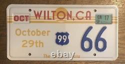 CALIFORNIA Wilton, CA ALPACA souvenir license plate 66 Sunrise Route 99 Embossed