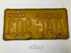 California 1956 License Plate Pair YOM DMV clear