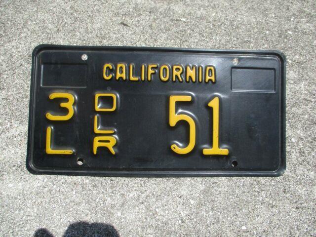 California 1963 3l Dealer License Plate # 51
