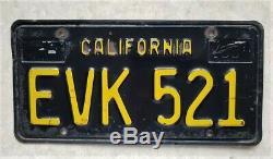 California 1963 BLACK LICENSE PLATES 1966 1967 1965 NOS tag 1964 DMV clear 1968